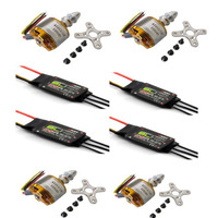 Rc Quadrocopter For Servo Lipo Fpv 4x 2212 13t 1000kv Brushless Motor 4 Pcs Emax 20a