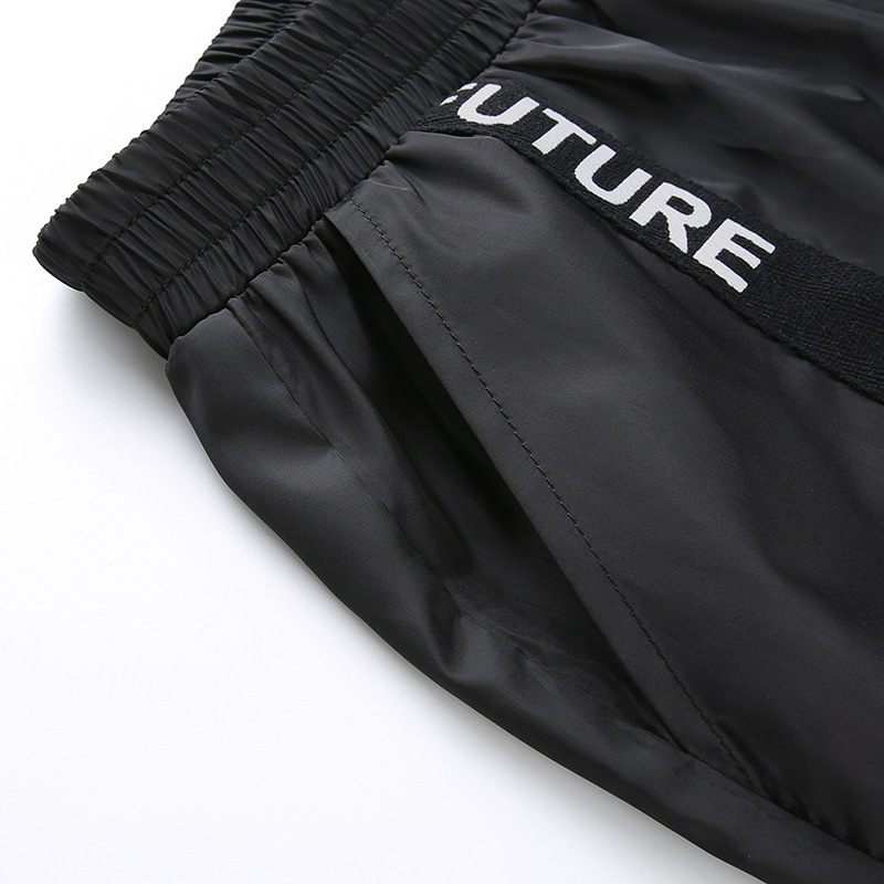 HOUZHOU Harem Pants Trousers Women Full Length Loose Jogger Mujer Sporting Elastic Waist Black Casual Combat Streetwear Fashion 45