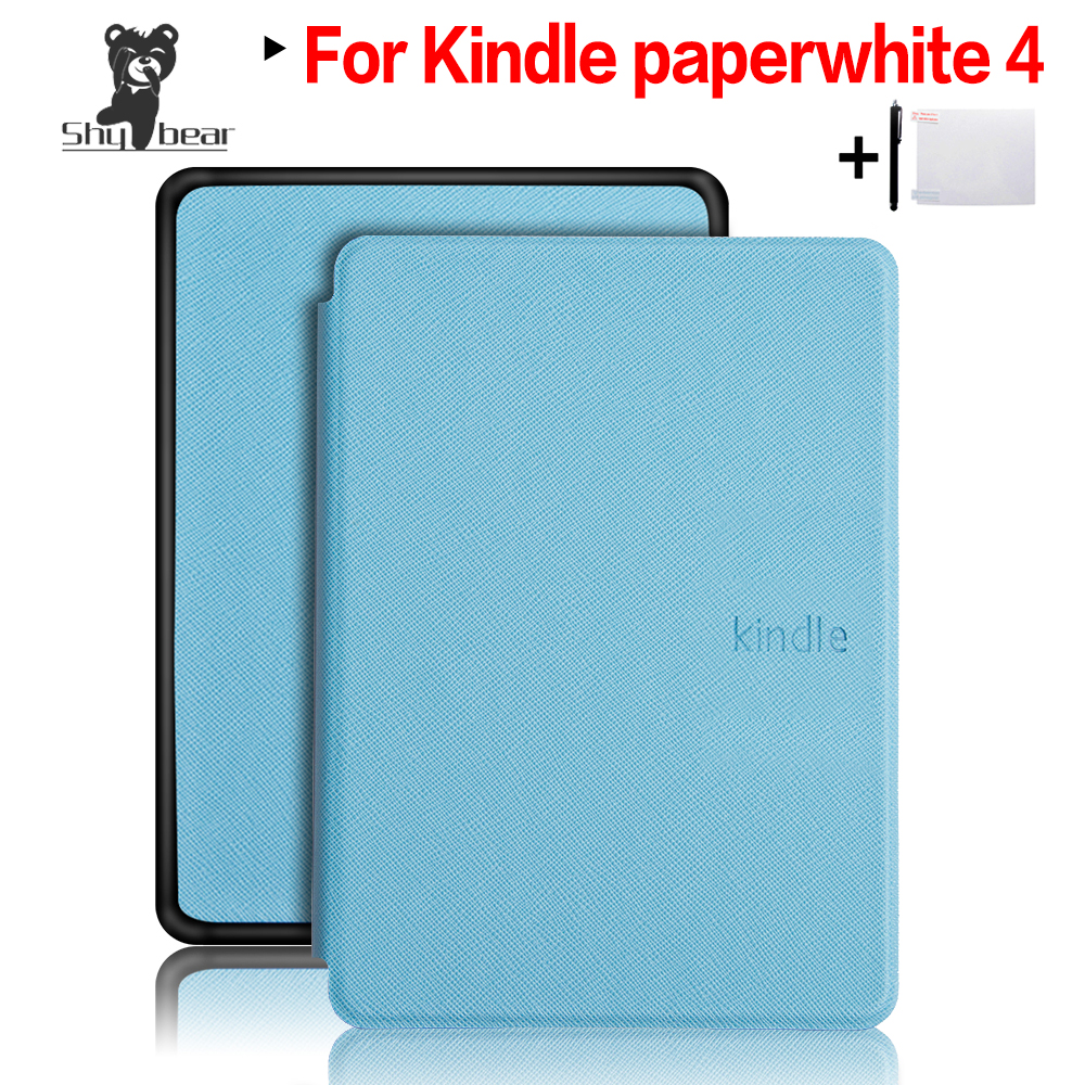 Slim Smart-Folio PU Leder Abdeckung Fall für 2018 Neue Amazon Kindle Paper 4 + Screen Protector Film + Stylus stift