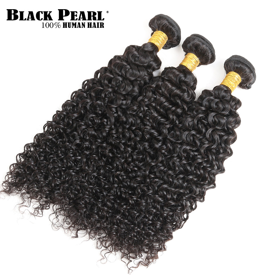 Black Pearl Pre-Colored Curly Weave Human Hair 300g Remy Hair Weave 3 Bundles Peruvian Hair Bundles Free Shipping