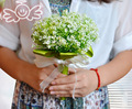 2016 Новое Прибытие Зеленый Букет Невесты На Заказ Искусственные Цветы Свадебные Цветы buque де noiva Невесты Свадебный Букет D426