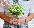 2016 New Arrival Green Bridal Bouquet Custom Artificial Flowers Wedding Flowers buque de noiva Bridesmaid Wedding Bouquet D426