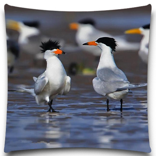 Bird <font><b>Seabirds</b></font> Cotton Polyester Home Cushion cover 18*18 inch 5 size Pillow <font><b>Case</b></font> Comfortable Back Throw Wedding Pillow Cover image