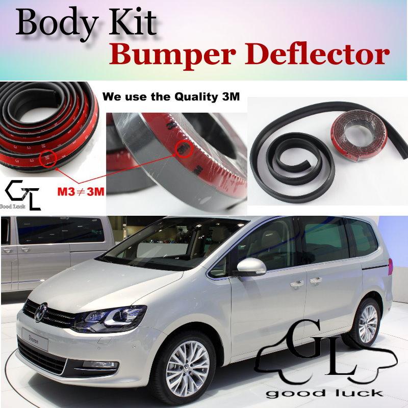Bumper Lip Deflector Lips For Volkswagen VW Sharan Front Spoiler Skirt For TopGear Friends Car View Tuning / Body Kit / Strip|spoiler lip|lip bumper spoiler|vw front lip -