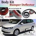 Deflector de Labios Para Volkswagen VW Sharan Spoiler Delantero Bompereta Falda para TopGear Amigos Ver Coches Tuning/Kit de Carrocería/Strip