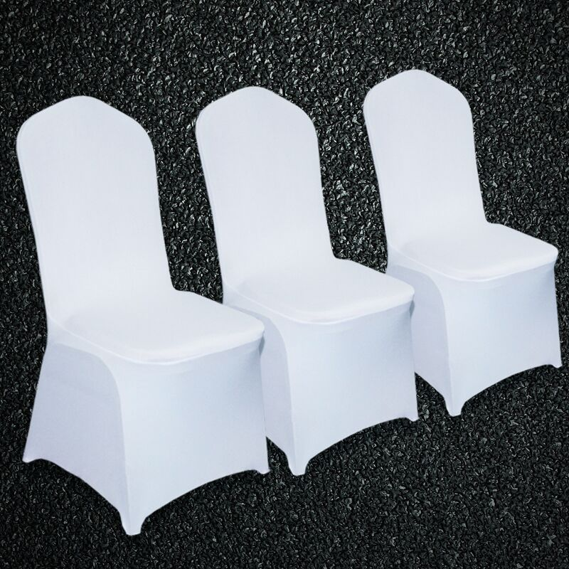 Phenomenal 100Pcs High Quality Universal White Stretch Chair Cover Pabps2019 Chair Design Images Pabps2019Com