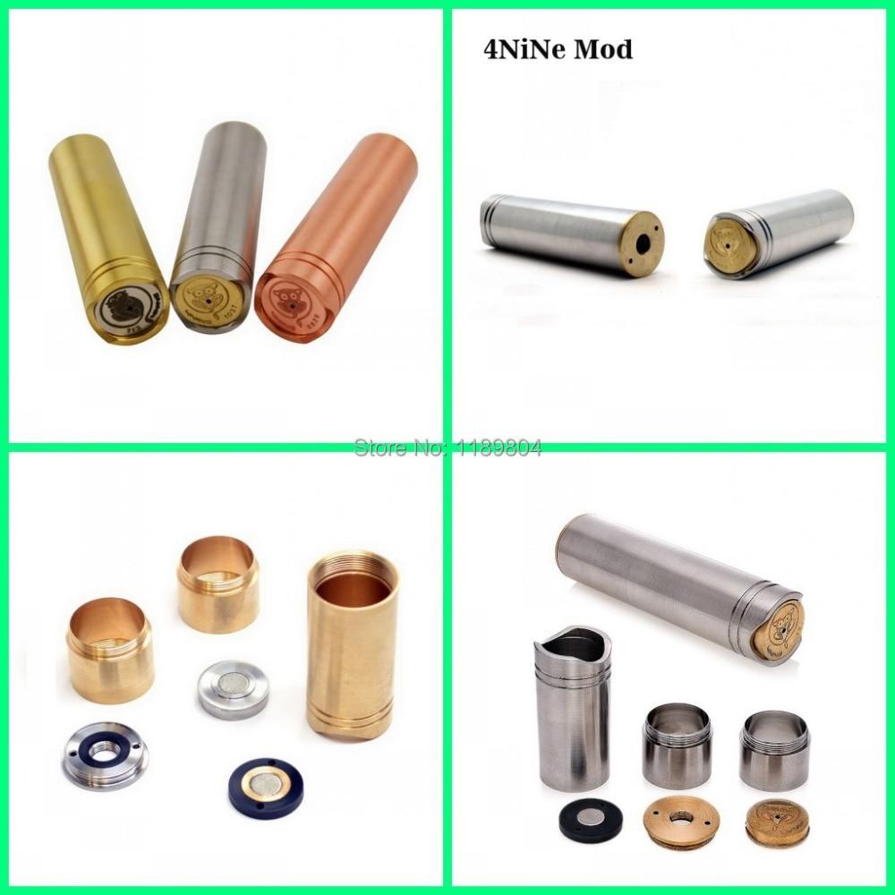 5pcs Full mechanical mod clone e cigarette stainless copper brass 4nine mod similar stingray panzer ecig