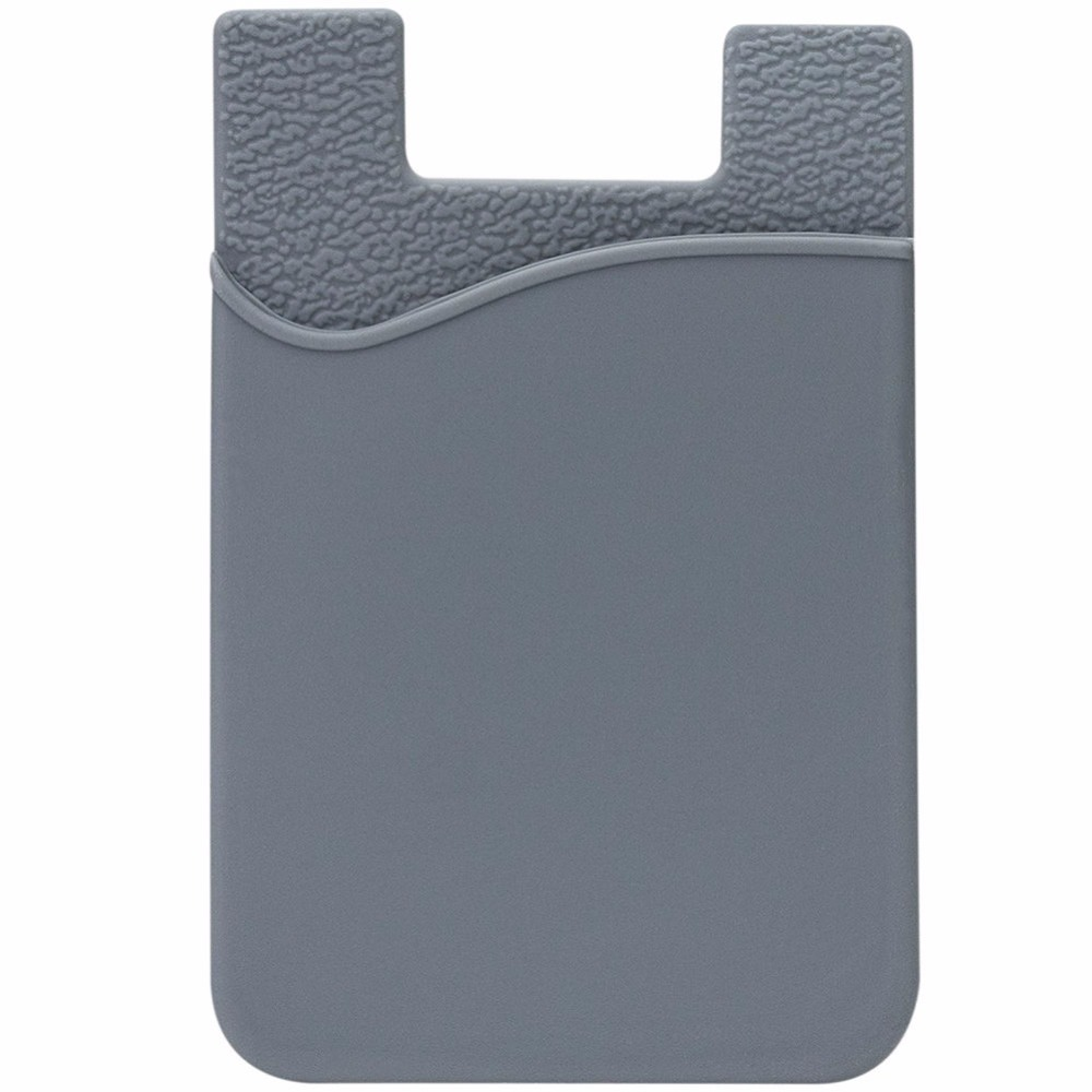 Universal Rubber Silicone Wallet ID Card Holder Sleeve Stick Adhesive Case for Mobile Phone in Card ID Holders from Luggage Bags