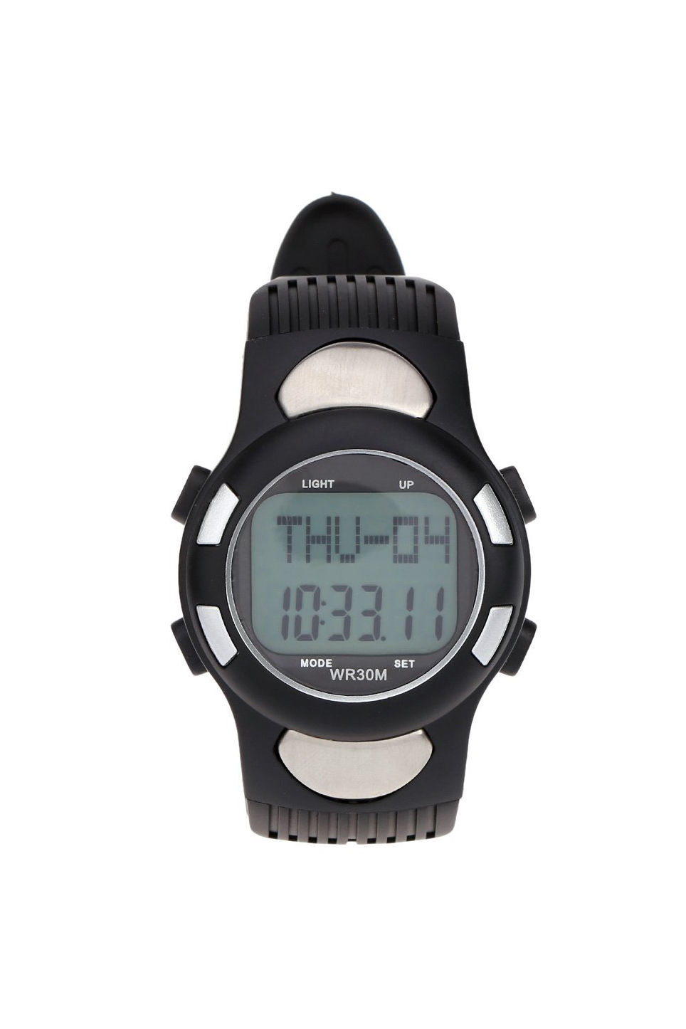 SZ-LGFM-3ATM Water-resistant Sports Pulse Heart Rate Monitor Fitness Exercise Watch Pedometer Calorie Stopwatch Outdoor Cycling