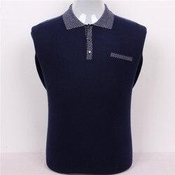 Super grande tamaño 100% cachemir de cabra para hombre boutique suéter cuello polo color sólido S/105-3XL/130