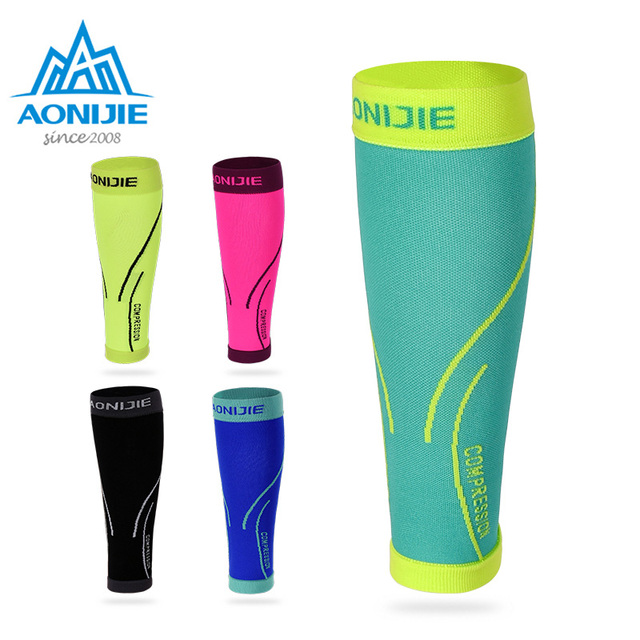 AONIJIE E4068 Calf Compression Leg Sleeves Socks Shin Splint Support Relief For Running Jogging Marathon Hiking Soccer Unisex