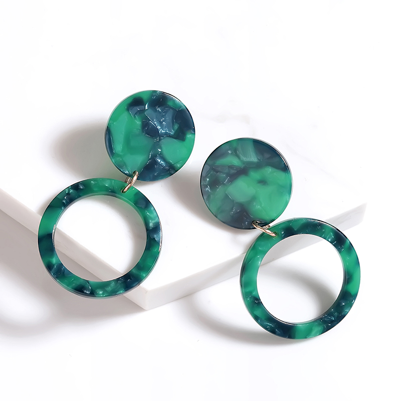 Trendy Brincos Print Earrings For Women Drop Earrings C shaped Elegant Eardrop Jewelry oorbellen pendientes boucle d 39 oreille in Drop Earrings from Jewelry amp Accessories