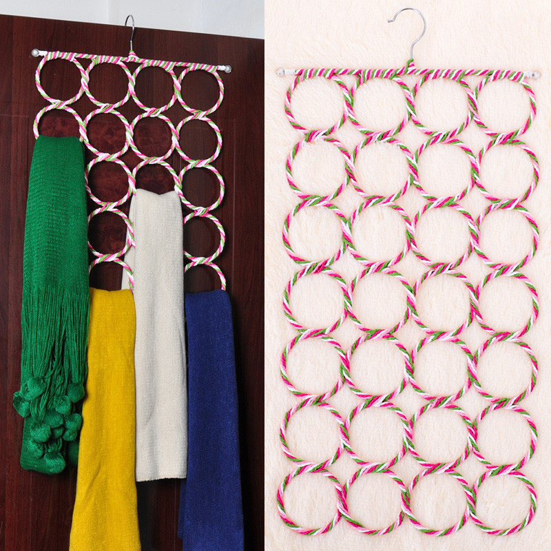 Creative Magic Non-slip Circle Scarves Clothes Underwear Multifunction Hanger Rack Home Storage Organizer Holder Random Color