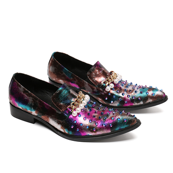 2018 Glitter Fashion Handmade Sequin Black Bling Wedding Shoes Men Party Loafers Mens Flats Plus Size 38-46 Dress Loafers