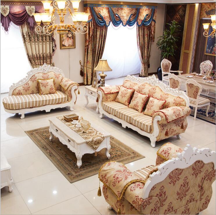 Mobili soggiorno moderno divano in tessuto divano set Europeo 1038