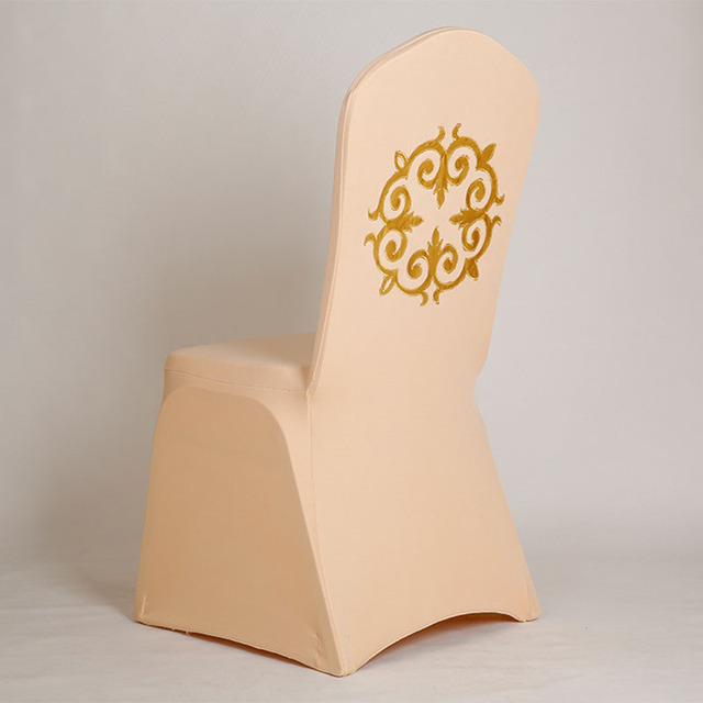 Aliexpress.com : Buy Gold Fleur De Lis Chair Cover Spandex dining ...