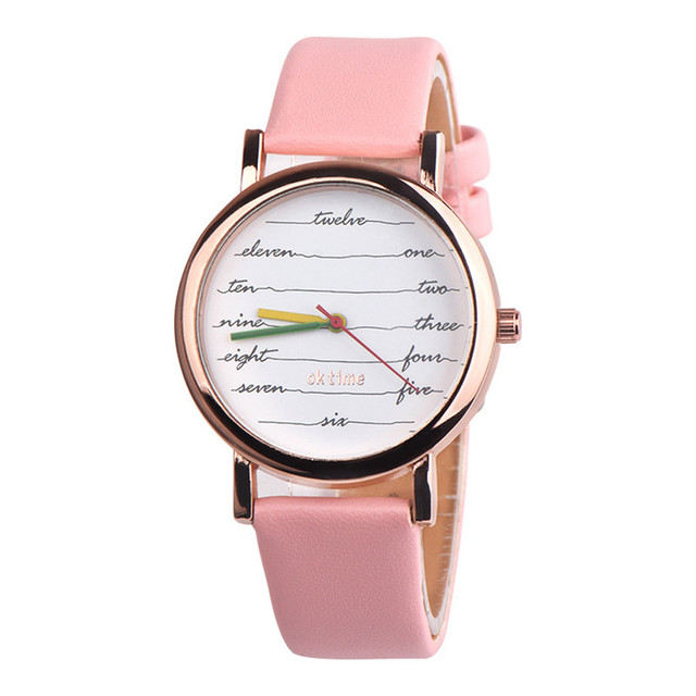 Fancy Womens Quartz Wristwatches Womens Girls Leather Analog Alloy Quartz Wrist Watch erkek kol saati reloj mujer elegante 5FN