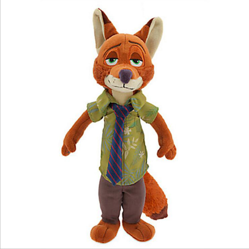 16-30cm Zootopia Fox Nick Wilde Plush Stuffed Toys Doll Cute Zootopia Fox Nick Plush Soft Animals Toy For Kids Children Gifts