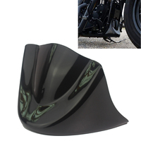 Cherk Gloss Black Plastic Motorcycle Lower Front Chin Spoiler Air Dam Fairing Cover For 2006 2018 Harley Dyna Models