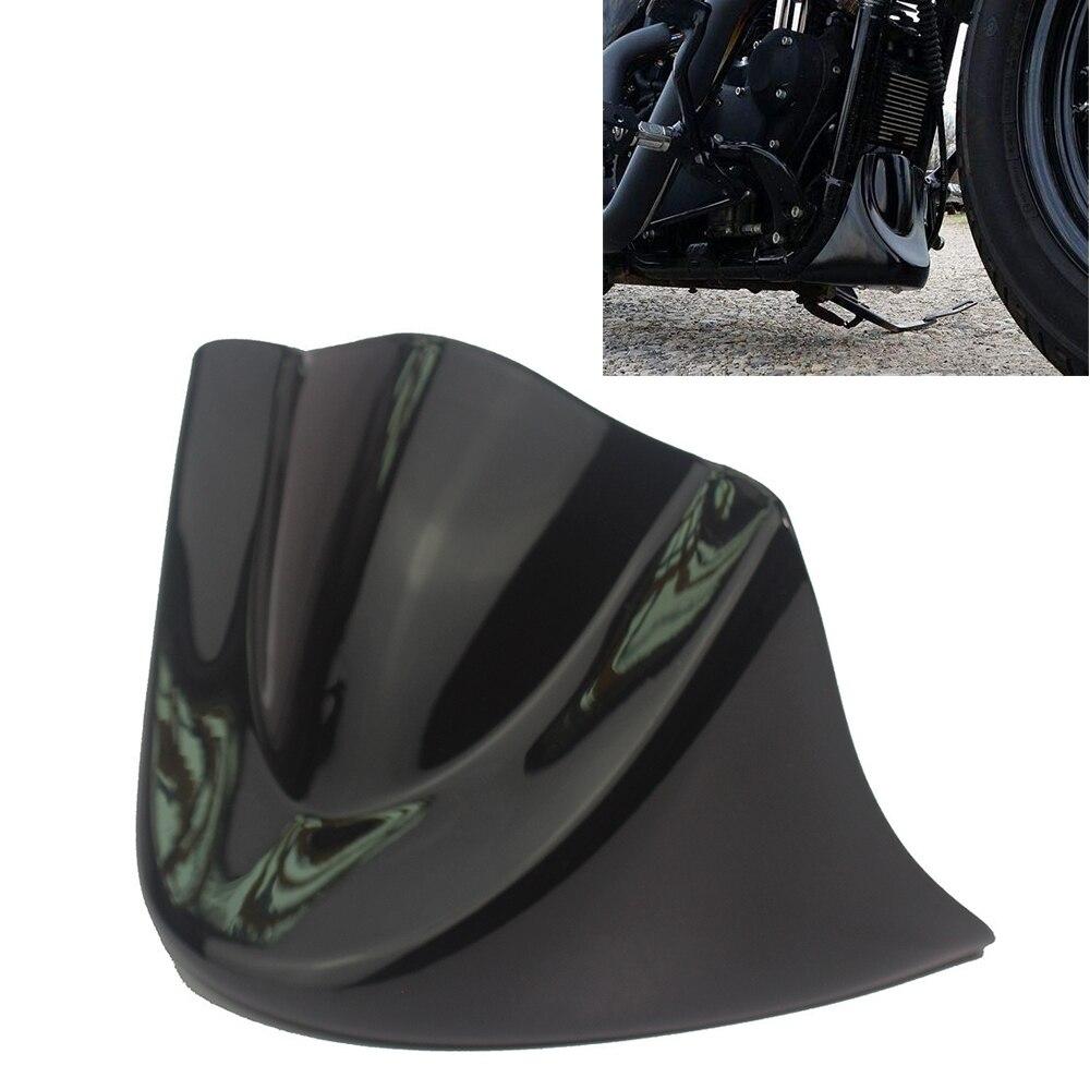 Black Front Chin Spoiler Air Dam Fairing Guard For Harley Davidson Dyna 99-05