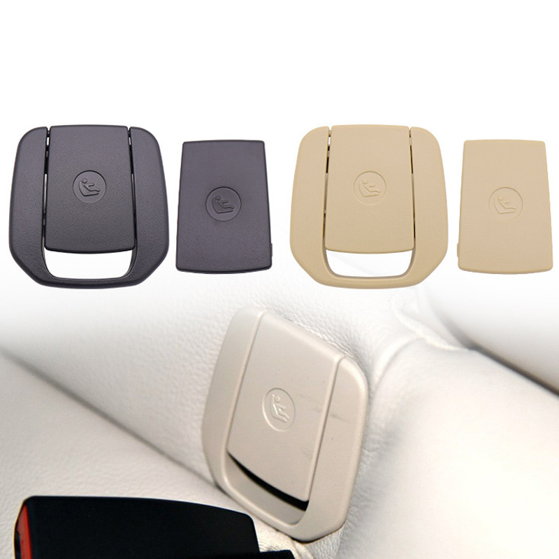 Auto Hinten Sitz Haken Isofix Abdeckung Kind Zurückhaltung Für Bmw X1 E84 3 Serie E90/f30 1 Serie E87 Schwarz/beige StäRkung Von Sehnen Und Knochen