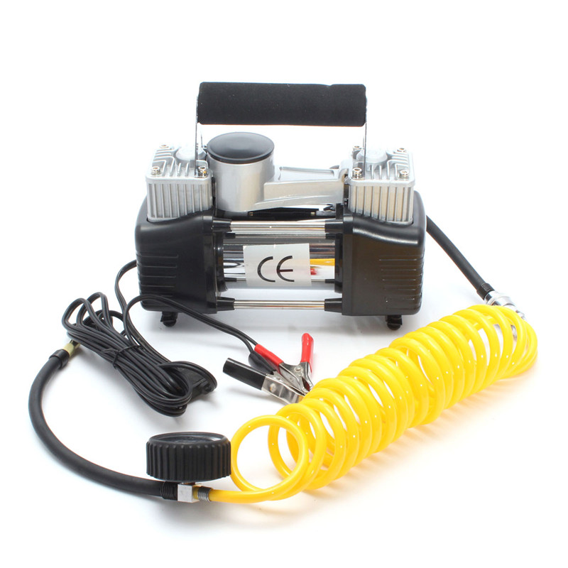 Portable 12V 150 PSI Car Van Tyre Air Compressor Inflator Pump Heavy Duty Metal new arrival 12v 4800pa ac car electric air pump for camping airbed boat toy inflator