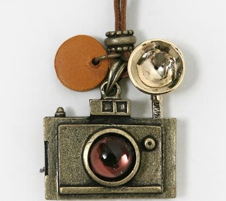 Fashion vintage camera necklace long necklaces wome