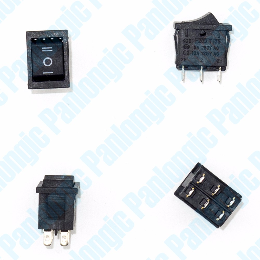 5pcs Lot Rocker Switch 3 Position 6 Foot Single Pole Double Throw Spdt Wiring Diagram Ac 250v 6a 125v 10a Forward Stop Reverse Control