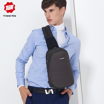Fashion Men Male Bags Casual Splashproof Sling Bag 9.7 inch Crossbody Bags for Women Messager Black Grey Men Shoulder Bag