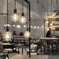 Retro vintage industrial work lamp loft style cafe restaurant suspension gold/ black pendant light AC110V/220V E27 for decor