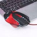 2016 Регулируемая 3200 ТОЧЕК/ДЮЙМ Горячая 6D СВЕТОДИОДНАЯ Оптическая USB Проводная Профессиональный Игровая Мышь Для Портативных ПК Игры Мыши #714