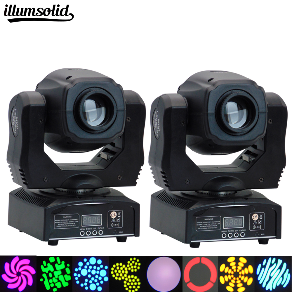 2 PCS Hot Sale Mini Spot 60W LED Moving Head Light With Gobos Plate Color Plate