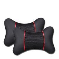 Shenlao 3D Leather Auto Neck Rest Headrest for Mercedes Benz w212 w205 w203 W204 W212 W211 W213 Car Headrest Neck Pillow