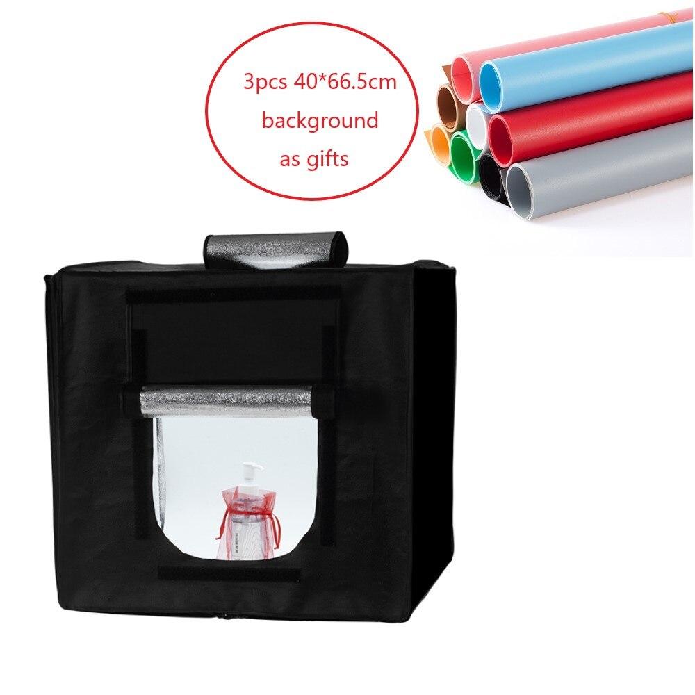 60*60 cm Portable Photo Studio Éclairage Mini softbox lightbox Pliage Boîte à lumière Photographie Toile de Fond Tir Tente Kit