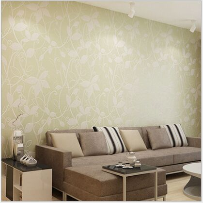 Fashion Romantic Wallpaper 3D Wallpaper Leaf Design Tv Background Wall  Vinyl Wallpaper Modern For Living Room Wallcovering In Wallpapers From Home  ...