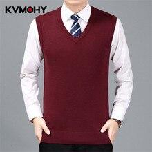 Мужской свитер, кашемировый джемпер, Классический свитер без рукавов, мужской жилет, мужской кашемировый свитер с узором