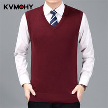 6df066568bddf6 Sweater Men Pullover Cashmere Jumper Classic Sleeveless Sweaters Vest Mens  Pull Homme Male Pattern Cashmere Sweater