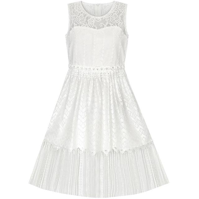 920ce974ee Girls Dress White Lace Tassel Hem Princess Party 2019 Summer Wedding Dresses  Children Clothes Size 4-8 Pageant