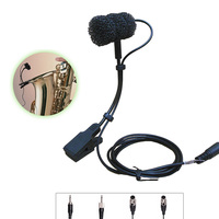 4 kinds plug Condenser Wired stage saxophone microphone professional trumpet sax gooseneck musical instrument mic