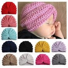 2019 Newborn baby muts winter Hat Boy Girl Knitted Turban Pom Hat Winter Warm Beanie Headwear Cap baby photo props hot sale цена и фото