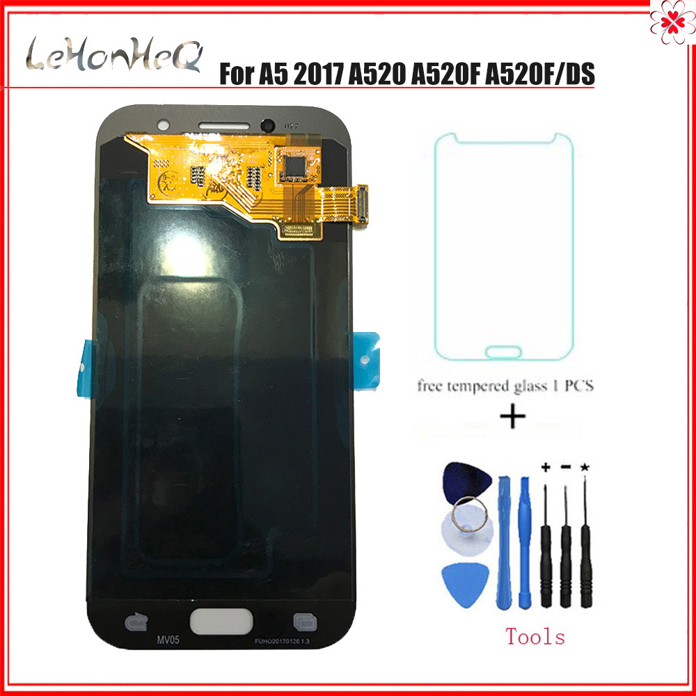 TEST <font><b>AMOLED</b></font> LCD For <font><b>Samsung</b></font> Galaxy A5 A520 A520K <font><b>A520F</b></font> A520L LCD Display Touch Screen Digitizer Replacement Assembly image