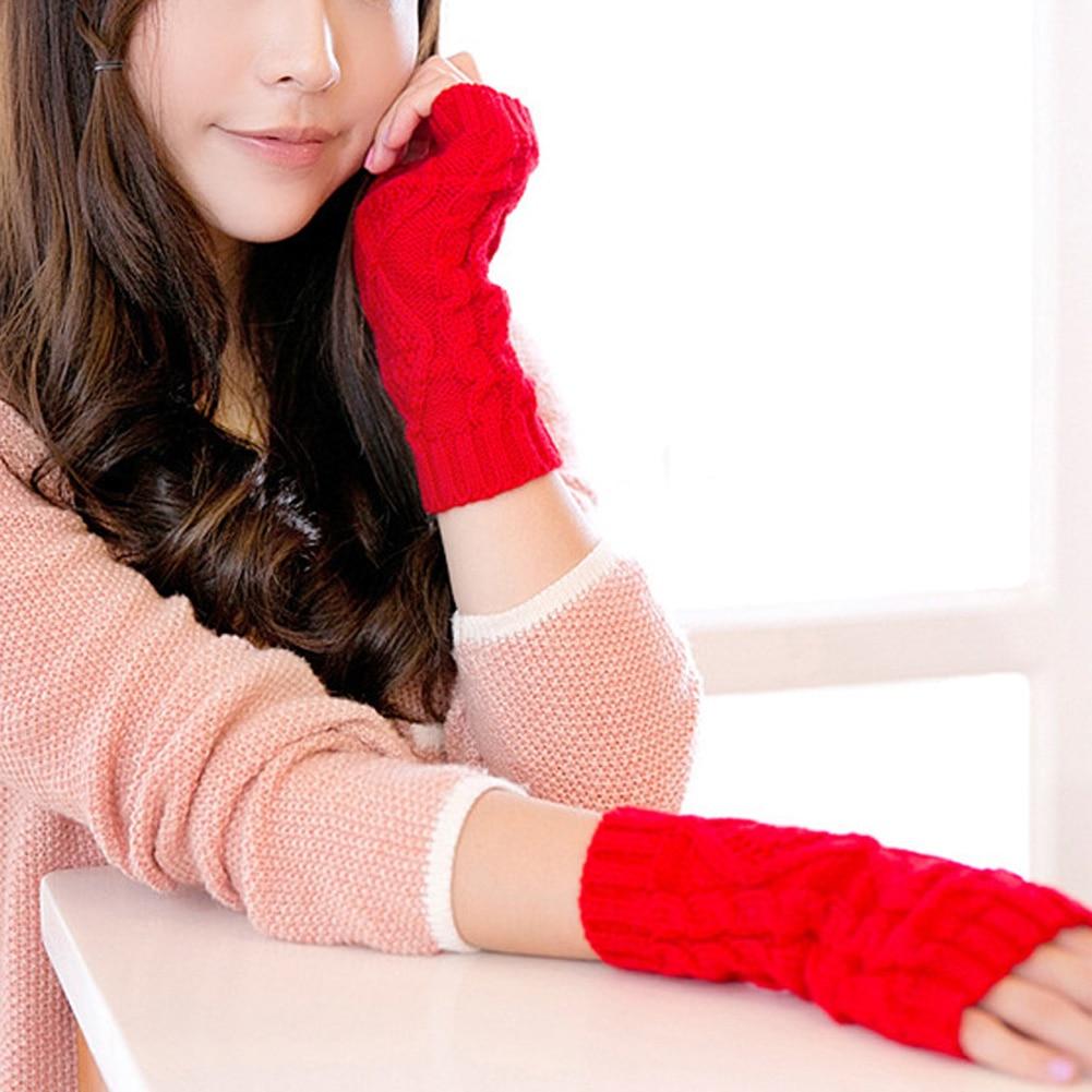 Damen-accessoires Angemessen 1 Paar Warme Winter Handschuhe Hanf Stricken Wolle Half-finger Handschuhe Frauen Diamant Damen Handschuhe Semi-fing Liebt Handschuhe