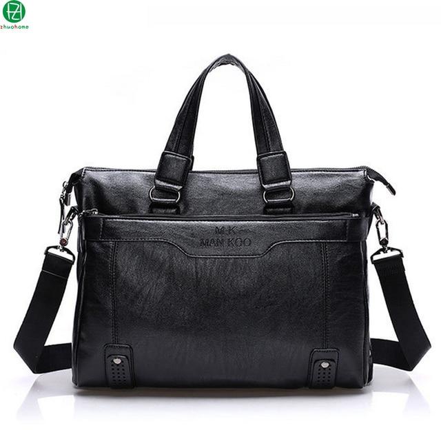 """Hot Sale brand  men leather briefcase business 15"""" man handbags tote vintage men messenger shoulder bag men crossbody Laptop bag"""
