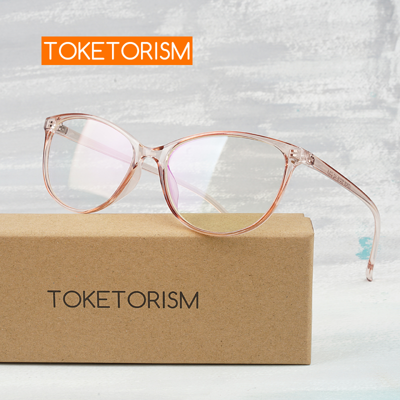 Toketorism retro women's eyeglass frame transparent frames for optical lenses woman 6342 image