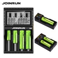 JOINRUN cargador de batería inteligente cargador de batería de Li-Ion Ni-MH Ni-Cd 18650, 14500, 16340, 14650, 26650, 16500, 16650, 14350, 13450 AAA AA cargador de batería
