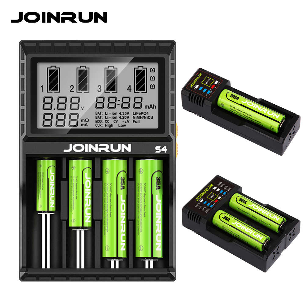 Joinrun Smart Charger Li-ion Ni-mh Ni CD 18650 14500 16340 14650 26650 16500 16650 14350 13450 AA AAA baterai Charger