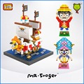 Mr.Froger LOZ ONE PIECE Luffy Chopper Building Blocks Small particles DIY toy brick gifts series Movie Figure Model Kids Doll