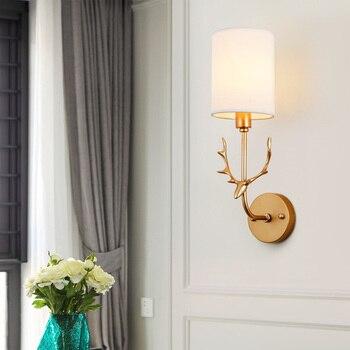 Bắc Âu ánh sáng sang trọng Hươu đầu đèn tường mô hình khách sạn phòng Đèn Sáng Tạo lối đi hành lang đầu đơn nền đèn tường ZP4241837