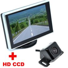 3 5 Color LCD Car Video Monitor With Univesal Nightvision CCD Car Rear View Camera backup