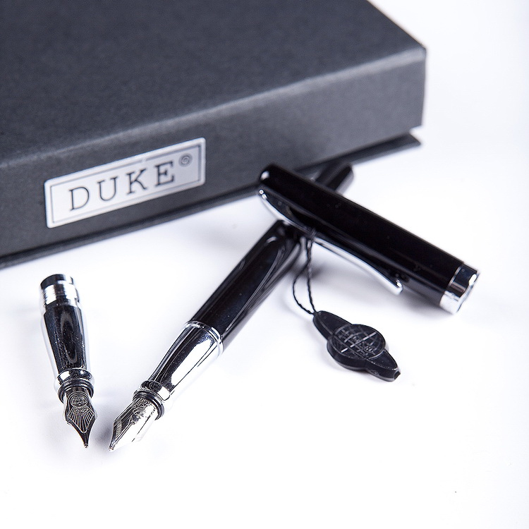 Duke 209 double head  nibs sliver black steel hopkinson fountain pen art pen double slider dual pen  FREE shipping italic nib art fountain pen arabic calligraphy black pen line width 1 1mm to 3 0mm